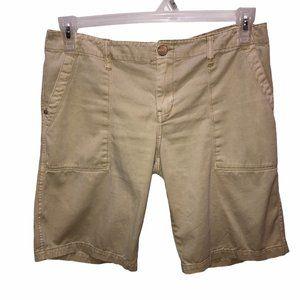 Sanctuary Size 28 Khaki Flat Front Bermuda Shorts